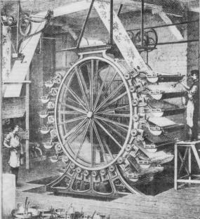 Impacchettamento della carta in fogli, prima metà 1800