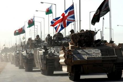 British forces leaving Basra