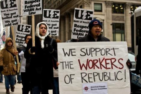 Chicago - Solidarietà ai lavoratori della Republic Windows & Doors