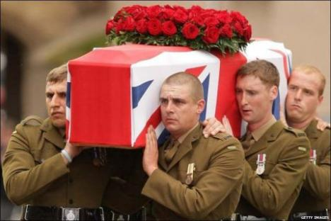 The Last Lie?: The State gets the militarist image it wanted as soldiers carry Harry Patch's coffin from Wells Cathedral