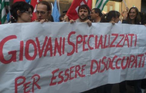 Manifestazione del 2009 ad Ancona, contro la riforma Gelmini